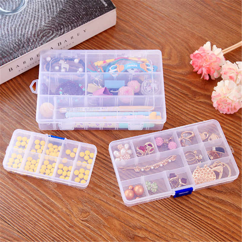 Storage Boxes & Bins Separate transparent jewelry storage box Portable mini classification sorting kit One week jewelry box