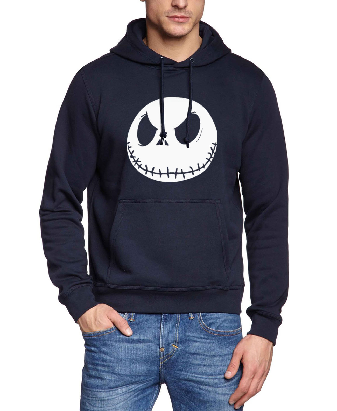 2019 funny Jack Skellington hoodies men autumn winter fleece hip-hop sweatshirt male harajuku brand tracksuit casual kpop hooded