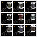 5Meter/lot 10 Color 6mm Bulk Glass Faceted  Round Coin Beads Link Rosary Chains Jewelry with Gun Metal Black Plated LS062