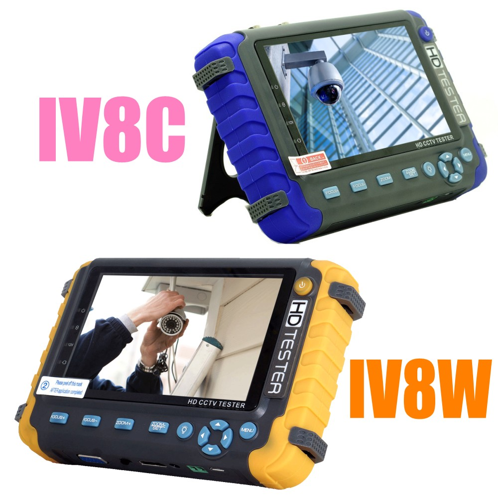 Upgraded CCTV Tester IV8W IV8C 4 IN 1 5MP AHD TVI 4MP CVI Analog Security Camera Tester Monitor With PTZ UTP Cable Test