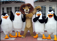 mascot 4 penguins lion alex mascot costume fancy dress custom fancy costume cosplay theme mascotte