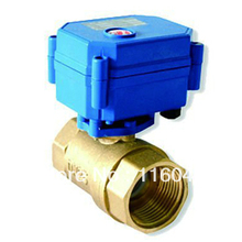 "house using electric valve DC/AC24V Brass 1"" 3 Wires or normal closed wires for fan coil heating water treatment"