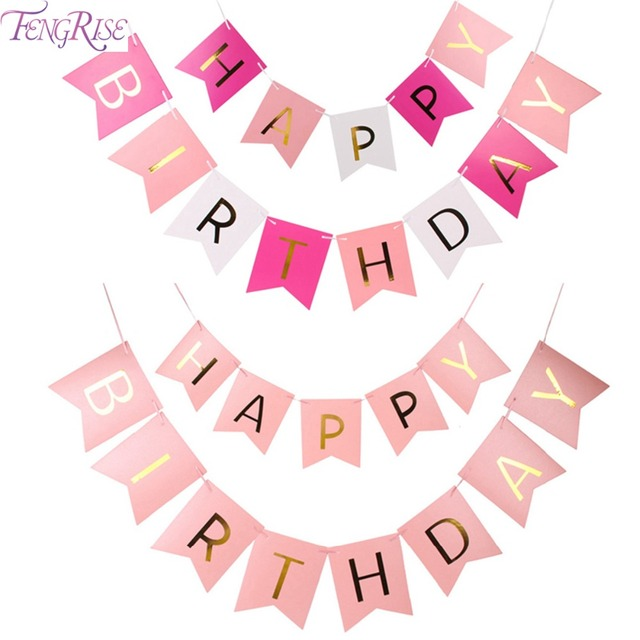 Fengrise Glitter Buon Compleanno Bunting Bandiere Banner Lettere D