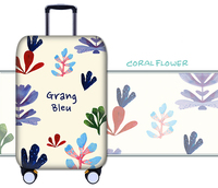 Protective Luggage Cover Suitcase Elastic Thicken Case Travel Box Dust Cover FLOWER Design 18/20/21/22/24/26/28/30/32'