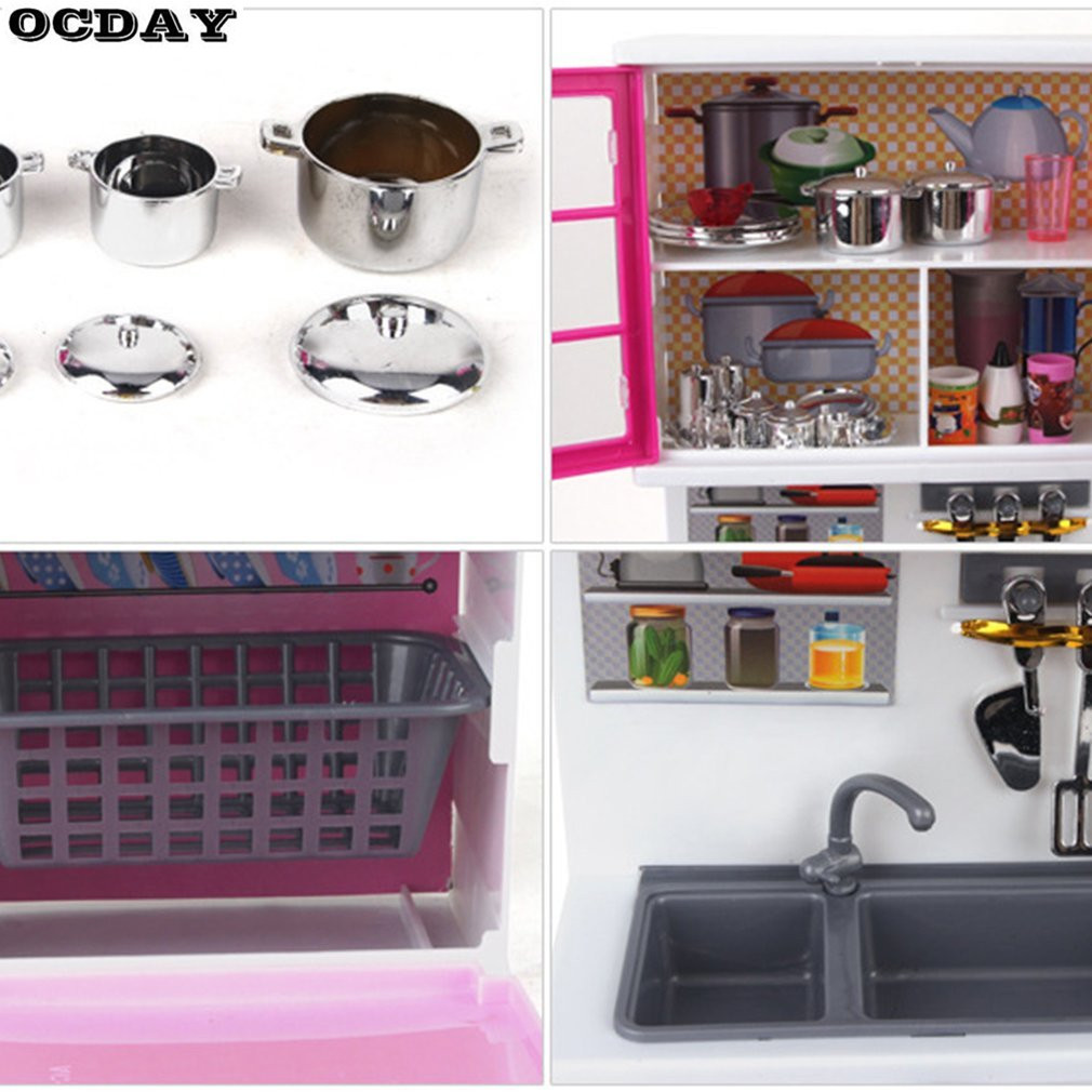 Multifunctional Kids Kitchen Play Toy With Music Light Effect Large ...