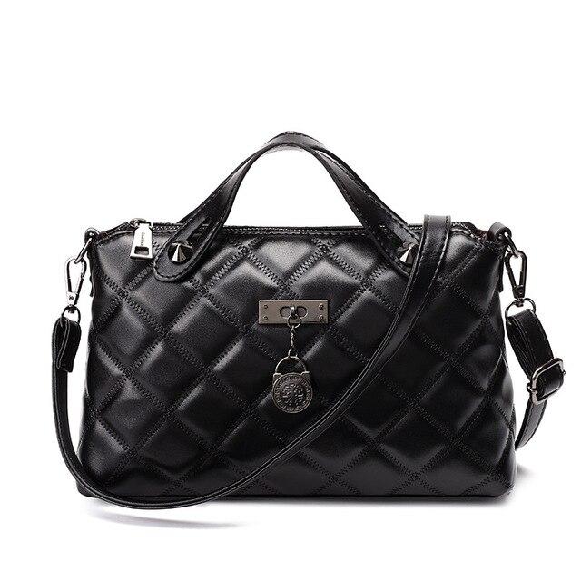 07feb2f832d2 Новая роскошная женская сумка 2018 знаменитая брендовая дизайнерская модная  клетчатая сумка через плечо женская сумка через