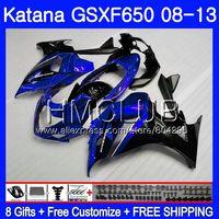 Kit For SUZUKI KATANA GSXF 650 650F Stock blue GSX650F 08 09 10 11 12 13 24HM.18 GSXF650 2008 2009 2010 2011 2012 2013 Fairing