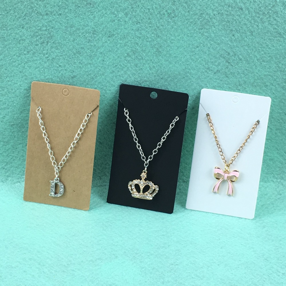 200PCS Jewelry Display Cards Necklace&Earring Cards Blank Jewelry Cards Paper Vintage Classic Display Card Accept Custom Logo