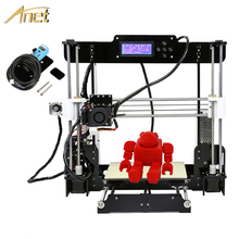 Anet A8 Auto level & Normal & Double Extruder A8Plus 3D Printer 0.4mm Nozzle i3 Aluminium Alloy Hotbed DIY Printer Kit Filament autoleveling he3d k200 delta 3d printer kit diy printer single nozzle extruder support multi material