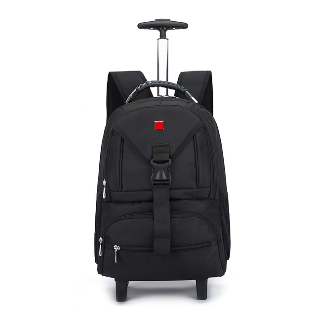 50316825ba3c BeaSumore Black Business Oxford Travel bag Rolling Luggage Spinner Suitcase  Wheels Trolley Case 18 inch Men Backpack Cabin Trunk