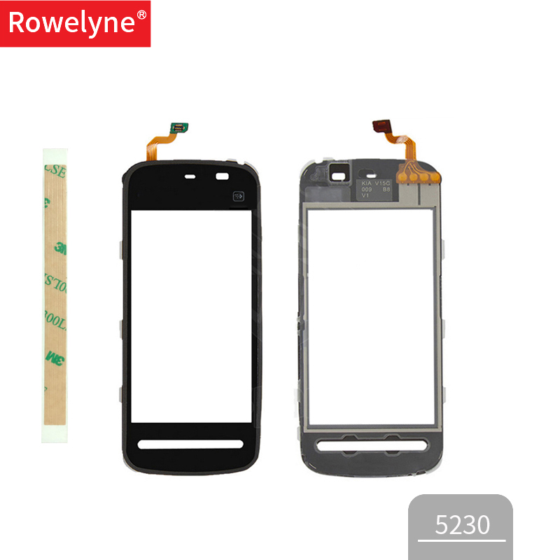 Touch Screen For Nokia 5228 5230 5232 5233 5235 5236 N5230 TouchScreen Sensor Digitizer Glass Lens Front Panel Black White