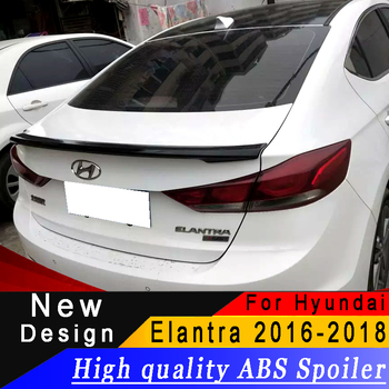 For Hyundai new Elantra 2016 to 2018 Sedan Spoiler High quality ABS material Primer or any color Rear wing spoiler