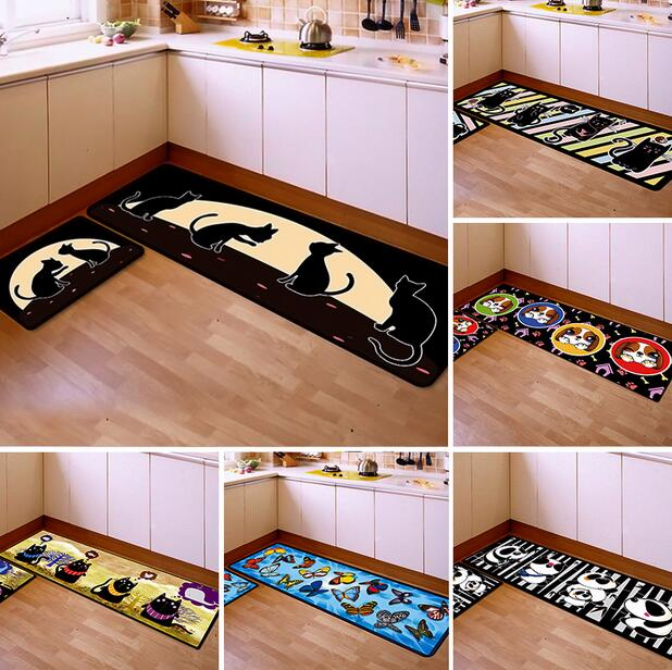 US $27.49 13% OFF|50*80cm+40*120cm Kitchen Rug Anti Fatigue Floor Mat  Kitchen Mat Entrance/Hallway Doormat Anti Slip Kitchen Carpet/Rug  2pcs/lot-in ...