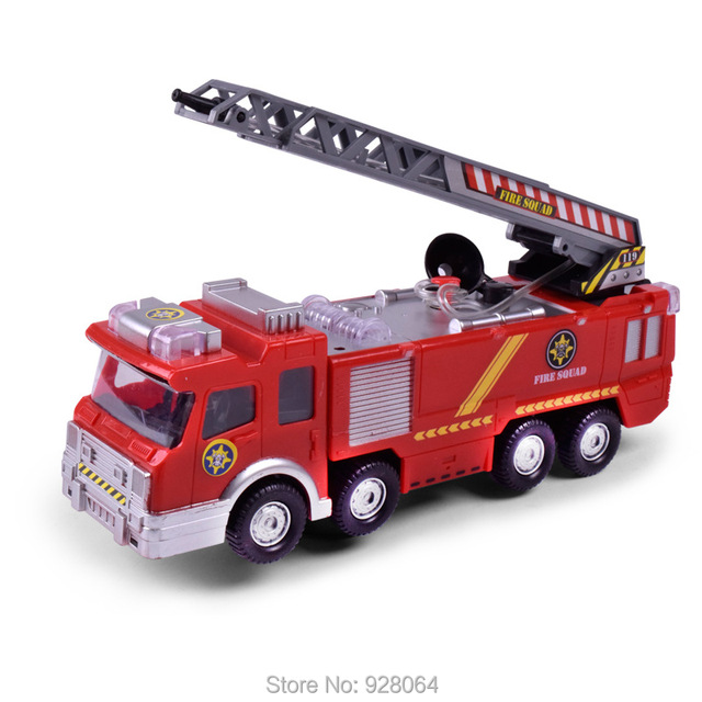 Electric Universal Spray Fire Truck/simulation Music Lights/rc Car  Model/baby Toys
