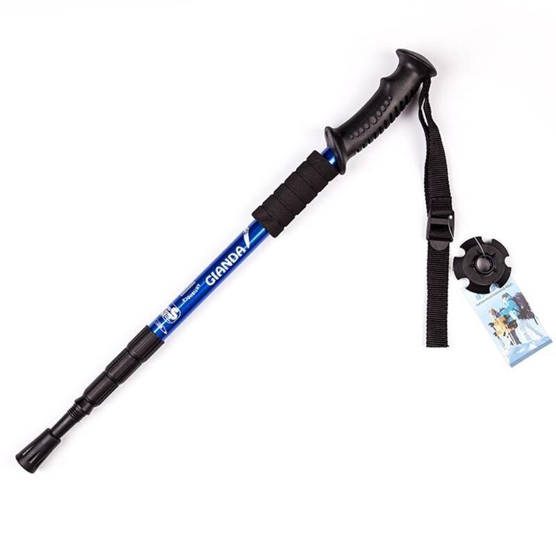Anti Shock Nordic Walking Sticks Teleskop Trekking Wandern Pole Ultraleicht Spazierstock mit Gummi Tipps Protektoren