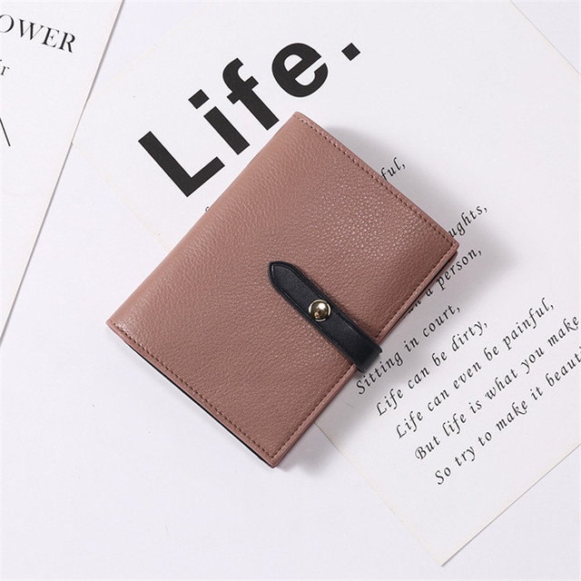 555325d73ec US $29.12 9% OFF Matte Leather Small Women Wallet Luxury Brand Famous Mini  Womens Wallets And Purses Short Female Coin Purse Credit Card Holder-in ...