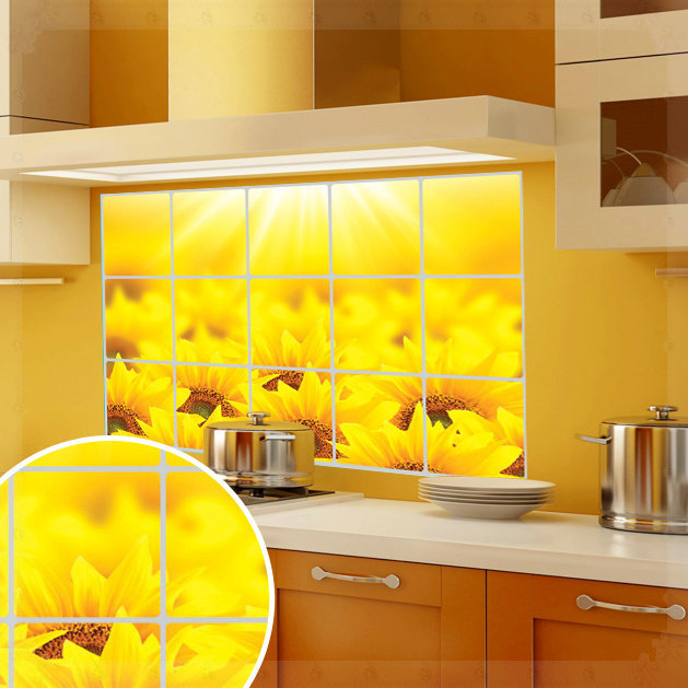 Adesivi murali vela olio pasta di serie cucina adesivi per - Adesivi per piastrelle cucina ...
