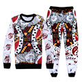 New Fashion 3D Print King/K Poker Face Sweatshirt&sweatpants Suit Men Boy Jogger Pants Casual Tops and Trousers Funny Sets Homme