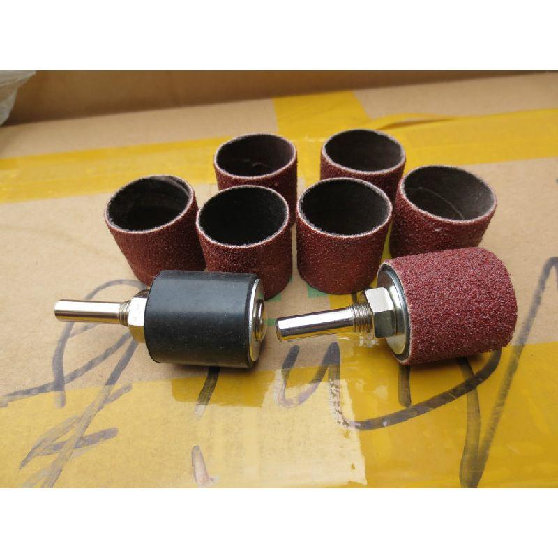6mm Shank 80-600 Grit Mini Drill Polishing Abrasive Paper Sand Ring Sandpaper Polishing Metal Rust Removing Woodworking Grinding