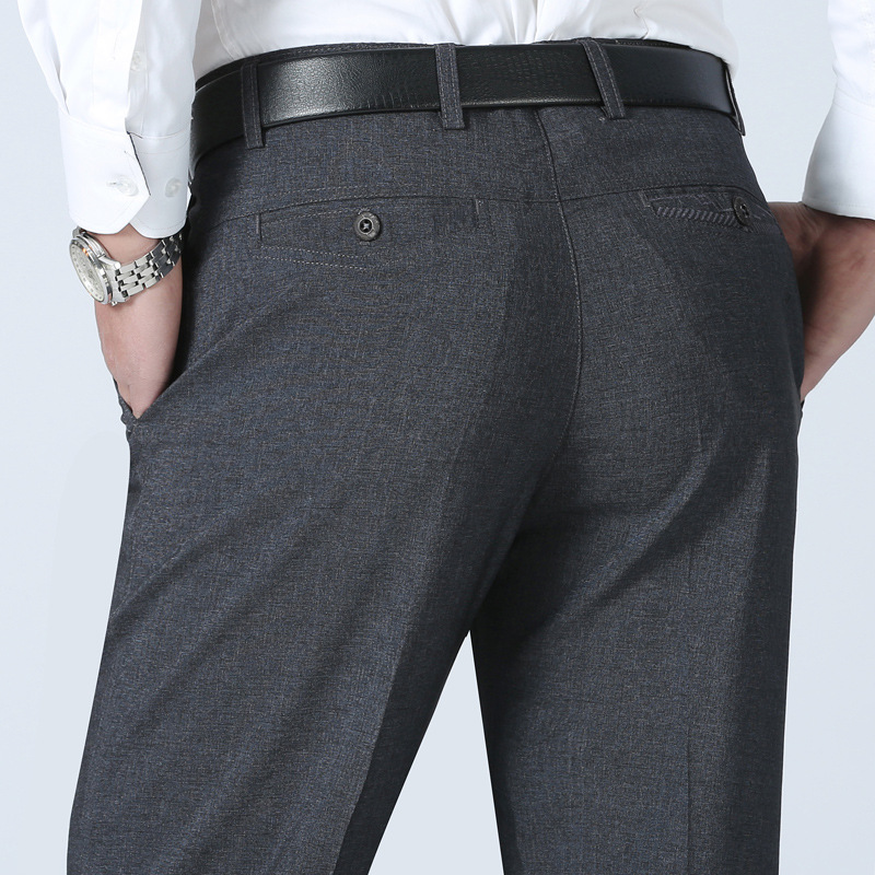 XIANGNIAN summer style loose men business casual long pants