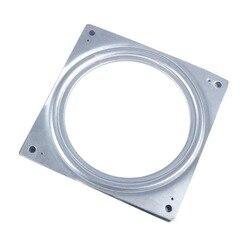 W 6 quadrado placa giratória metal rolamento turntable tv rack de mesa ferramenta
