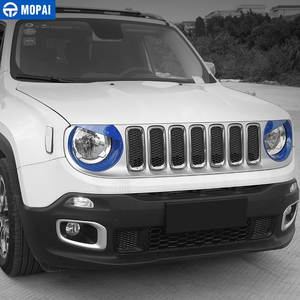Image 4 - MOPAI Car Front Head Light lamp Decoration Cover Stickers for Jeep Renegade 2015 Up ABS Exterior Car Accessories Styling