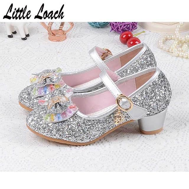 Primavera otoño elegante vestido zapatos zapatillas elegantes para niñas de  3-12 años de boda 41d2db298f3d
