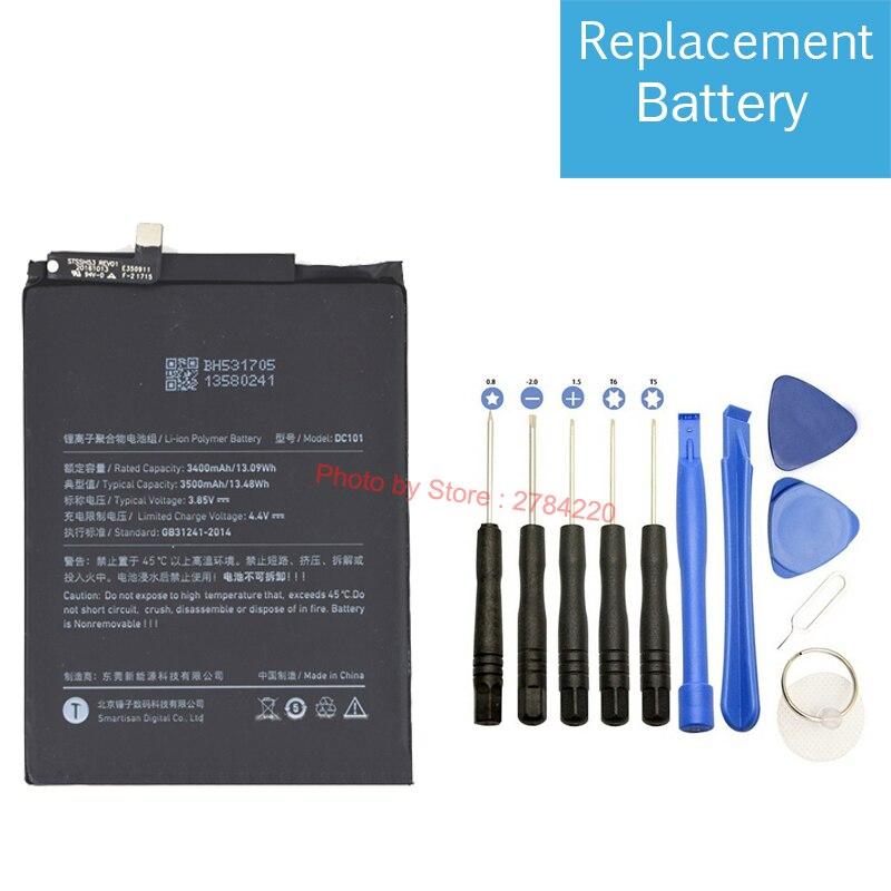 Сменный аккумулятор DC101, 100% 3500 мАч, для аккумуляторов Smartisan Jianguo Nut U1 Pro OD103 OD105 OD101