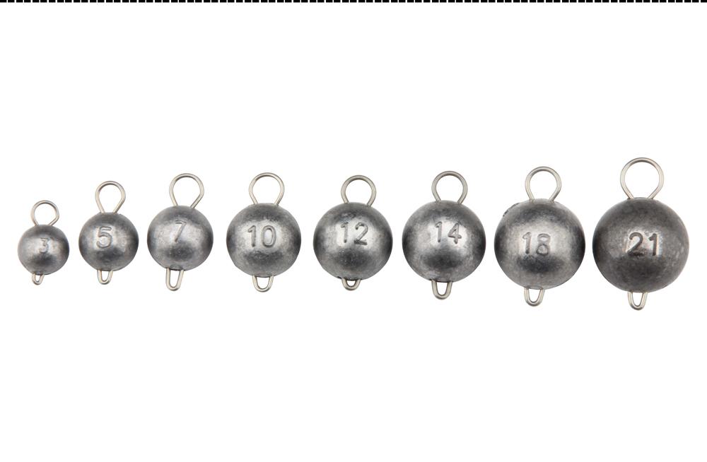SPINPOLER Fishing Jig Heads Sinkers Lead Weights Cannonball For Soft Lure  2g 3g 5g 7g 10g 12g 14g 18g 21g can Choose