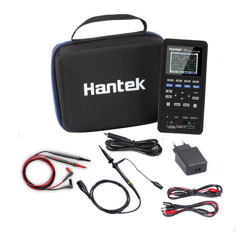 Hantek 2D42/2D72 3in1 Digitale Oszilloskop Multimeter USB Tragbare 2 Kanal 40 mhz 70 mhz Multifunktions Osciloscope