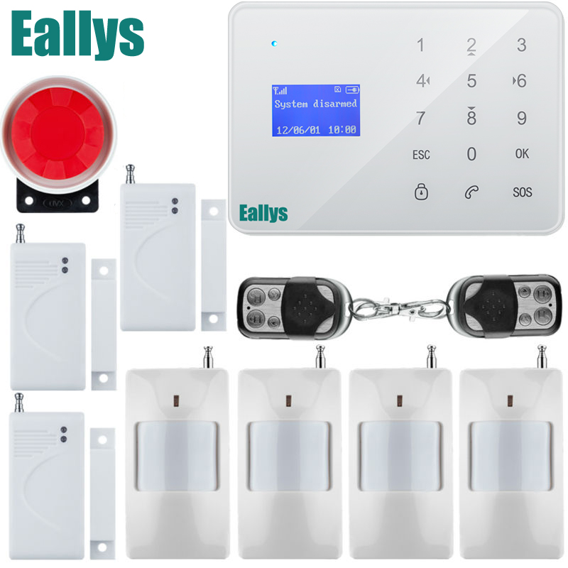 GSM Alarm System  Android IOS APP Touch keypad Android ISO App Smart Home Burglar Alarm System DIY Motion Sensor android ios app remote control wifi wireless wired lcd keypad smart gsm alarm system