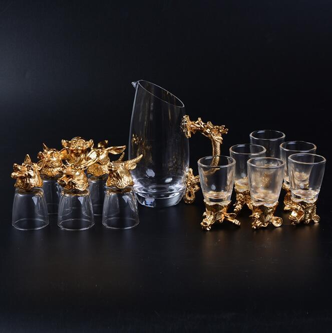 Ensemble de tasses en verre de vin 13 pièces/ensemble paquet cadeau accessoires de thé