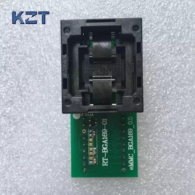New Open Top RT-BGA169-01 V1 BGA169/153 eMCP reader test socket size 11.5*13mm programmer adapter For RT809H Programmer yn e3 rt ttl radio trigger speedlite transmitter as st e3 rt for canon 600ex rt new arrival