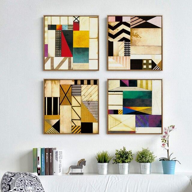 Geometrische muster abstrakte moderne kunst leinwand - Leinwand schlafzimmer ...