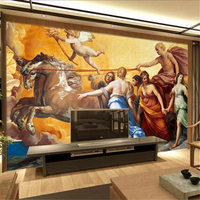 Custom Wall Mural Wallpaper Nostalgic World Famous Painting Luxury 3d Wallpaper Thicken TV Background Restaurant Study