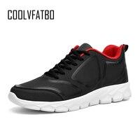 COOLVFATBO мужская повседневная обувь весна осень дышащая мужская обувь zapatillas hombre модные на шнуровке удобная обувь Большие размеры 48