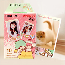High qulaity 10 Original Fujifilm Instax Mini Instant Color Film Stripe for polaroid Mini 7s 8 25 50s 90 SP-1