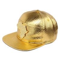 NYUK PU Leather Baseball Hat Brand Cap Snapback Hats With Logo Map Of Africa Rhinestone Gorras