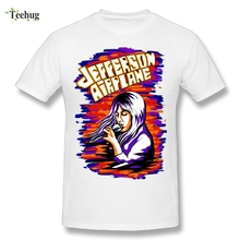 Fashion Streetwear Mens Jefferson Airplane T Shirt 100% Cotton Casual Rock Band Homme Tees T-shirt