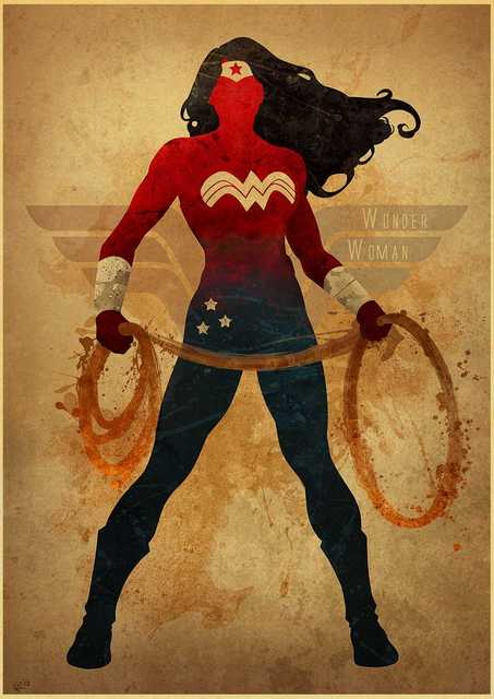 Superheroes poster wall art 1