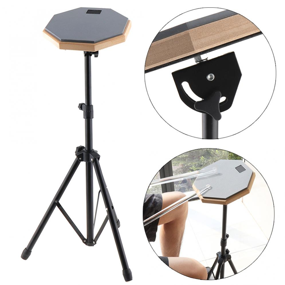 8 Inch Gray Rubber Wooden Dumb Drum Practice Training Drum Pad With Stand For Percussion Instruments Parts
