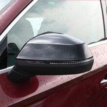 Для Audi Q5 2018 внешний зеркало заднего вида Обложка отделка углеродного волокна Стиль 2 шт. автомобилей укладки автомобильные аксессуары