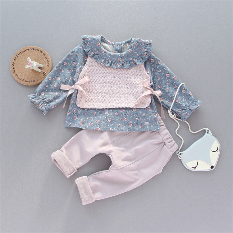 New Roupa Infantil For Bebek Baby Girl Autumn Set 0-3 Years Old Female Cute Princess Clothes Three-piece Clothing Suit Gift
