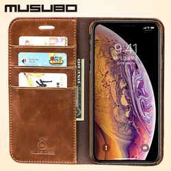 Musubo Luxury Flip Leather Cases for iPhone XS Max Wallet Phone Bag Stand Cover Funda For iphone XR Case Coque Capa High Quality
