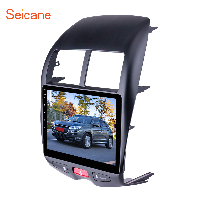 Seicane 10.1 2 DIN Bluetooth GPS Navigation Android 6.0/7.1 Radio For 2012 CITROEN C4 2010 2015 Mitsubishi ASX Peugeot 4008