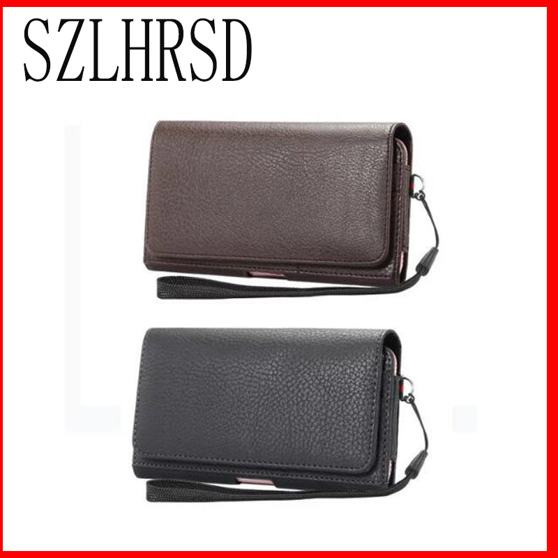 Men Belt Clip Leather Pouch Waist Bag Phone Cover For Sony Xperia L1 Ulefone Power 2