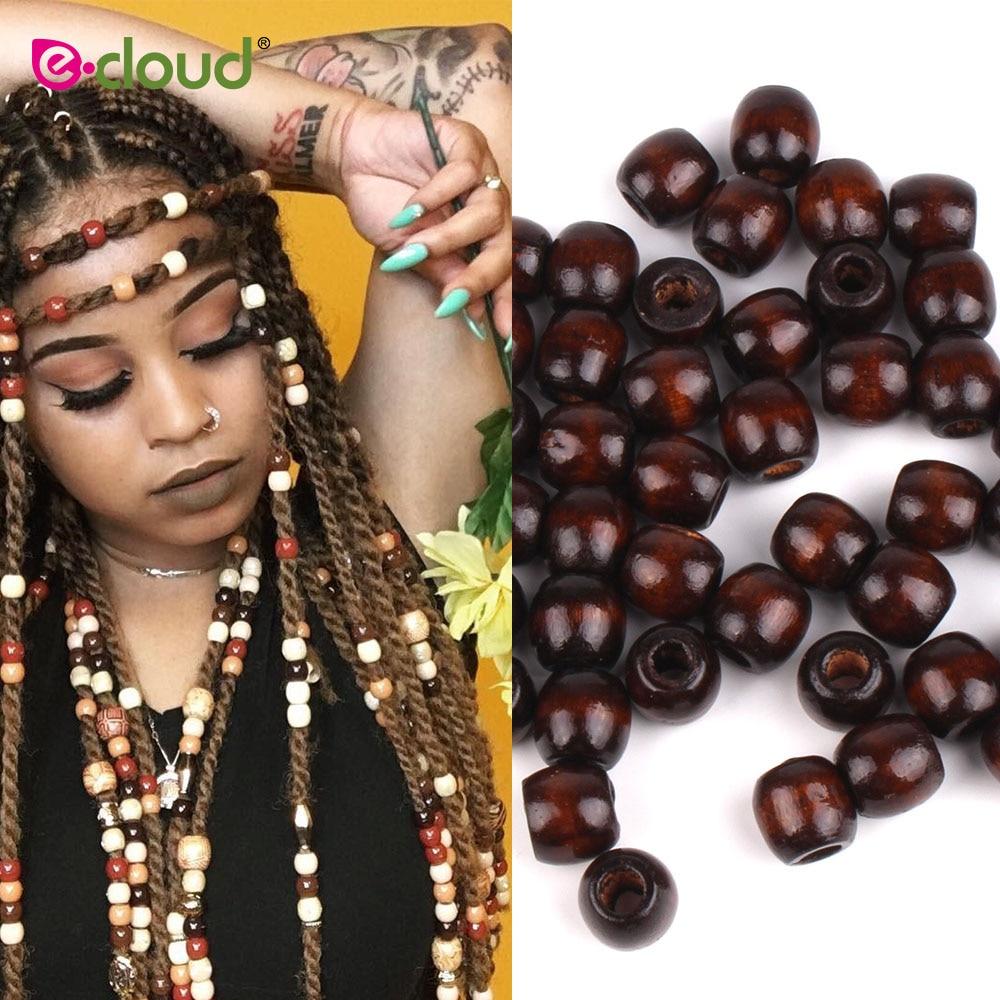 50Pcs Acrylic Round Hair Beads Braids Diy Dreadlock Beads Hair Extension#Jewelry