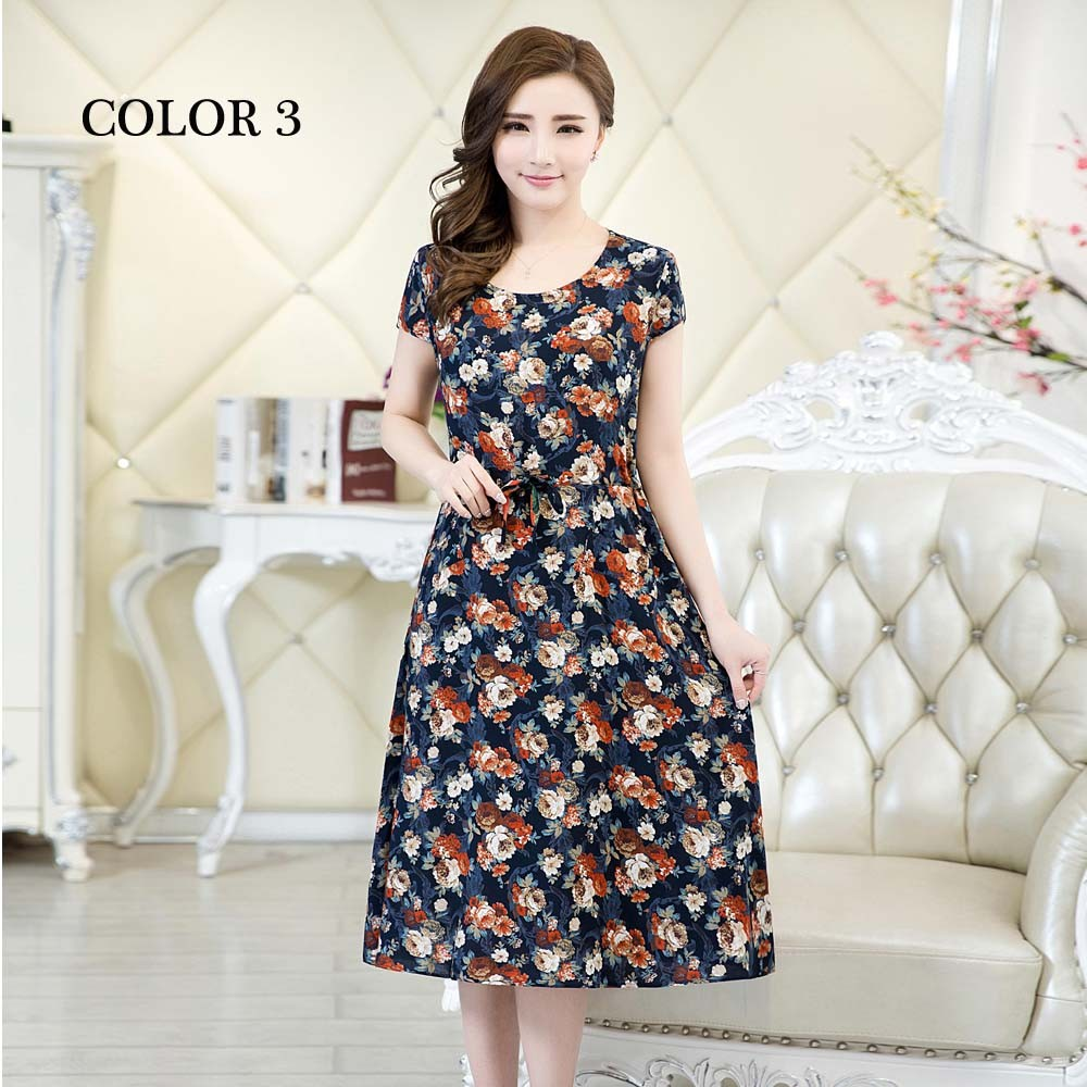 verano Moda ropa 2017 mujeres encaje casual vintage floral print summer dress ve