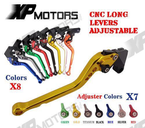 CNC Long Brake Clutch Levers For Yamaha YZF R6 1999 2000 2001 2002 2003 2004 R1 2002 2003 R6S FZ1 FAZER short clutch brake levers for yamaha yzf r6 1999 2004 cnc 2000 2001 2002 2003 blue adjustable 10 colors