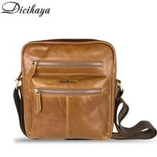 DICIHAYA Fashion Genuine Leather Crossbody Bags Men Casual M